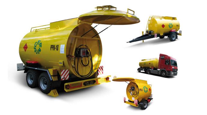 Pojízdné provozní nádrže