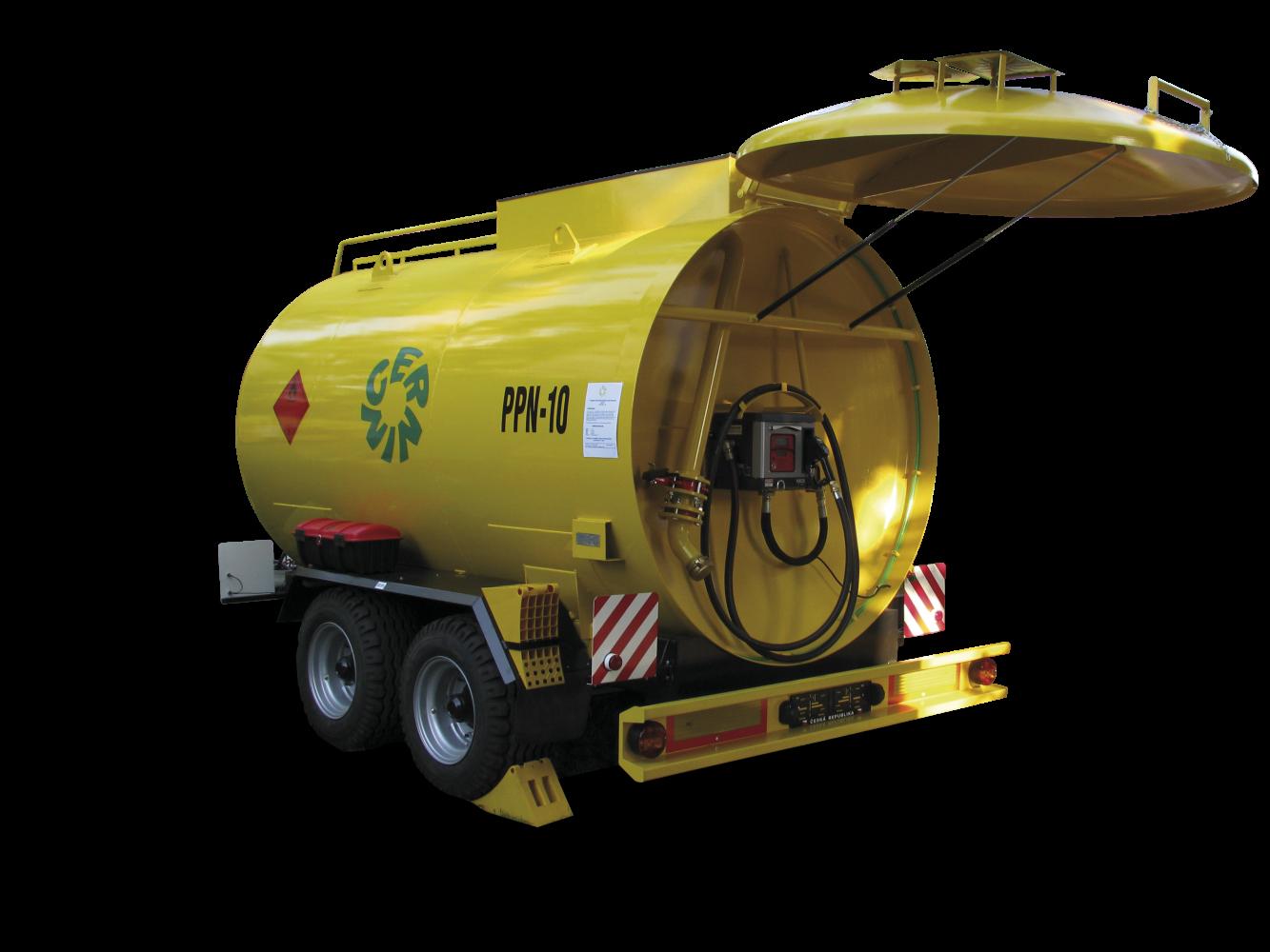 pojízdná nádrž na naftu