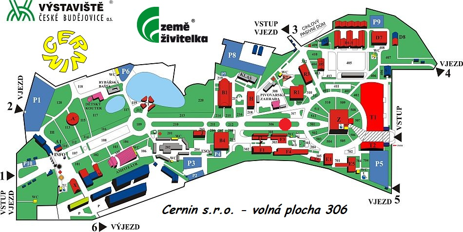 Mapa výstaviště ČB